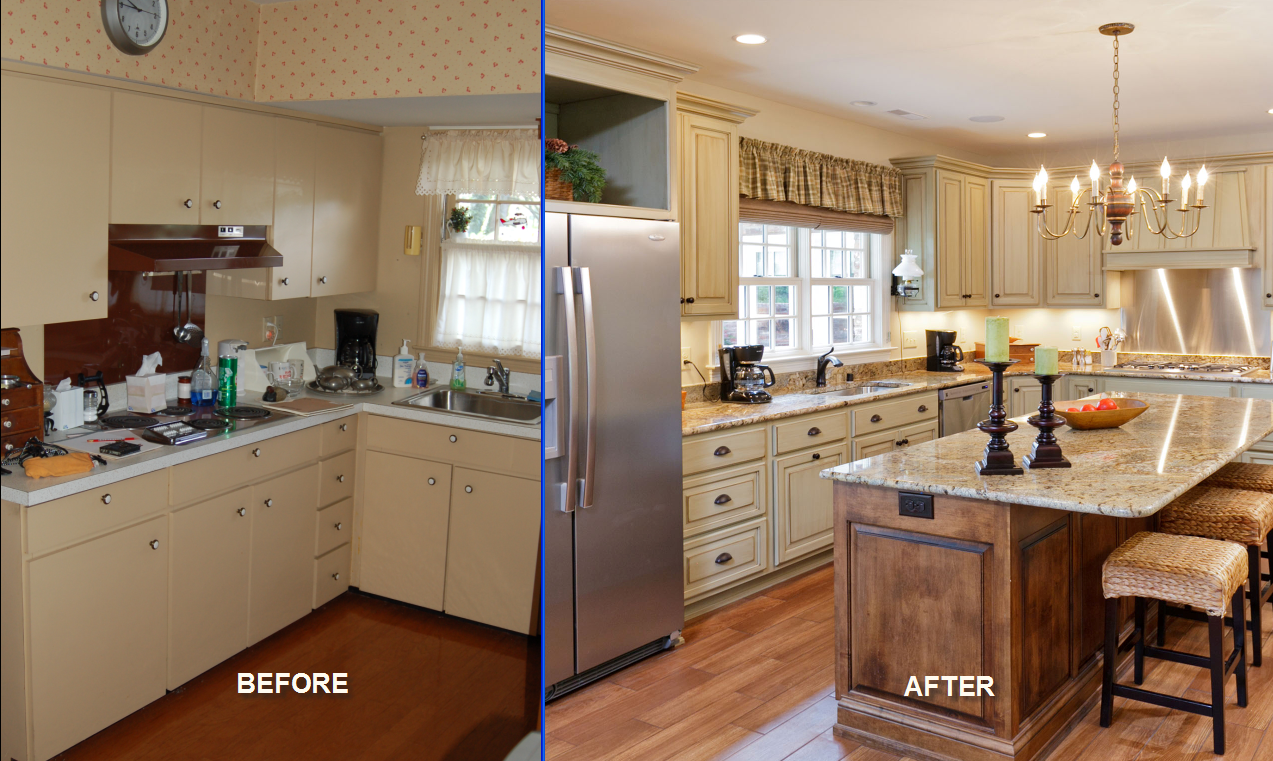 Before And After This Renovated Ranch Kitchen Beautifully Blends Rustic With Modern: JK Custom Builders